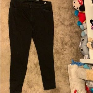 Old Navy Black Super Skinny Mid-Rise Jeans